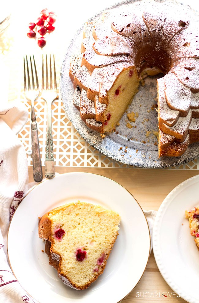 Orange Cranberry Ricotta Cake