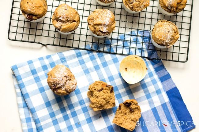 Buckwheat Dark Chocolate Chip Muffins
