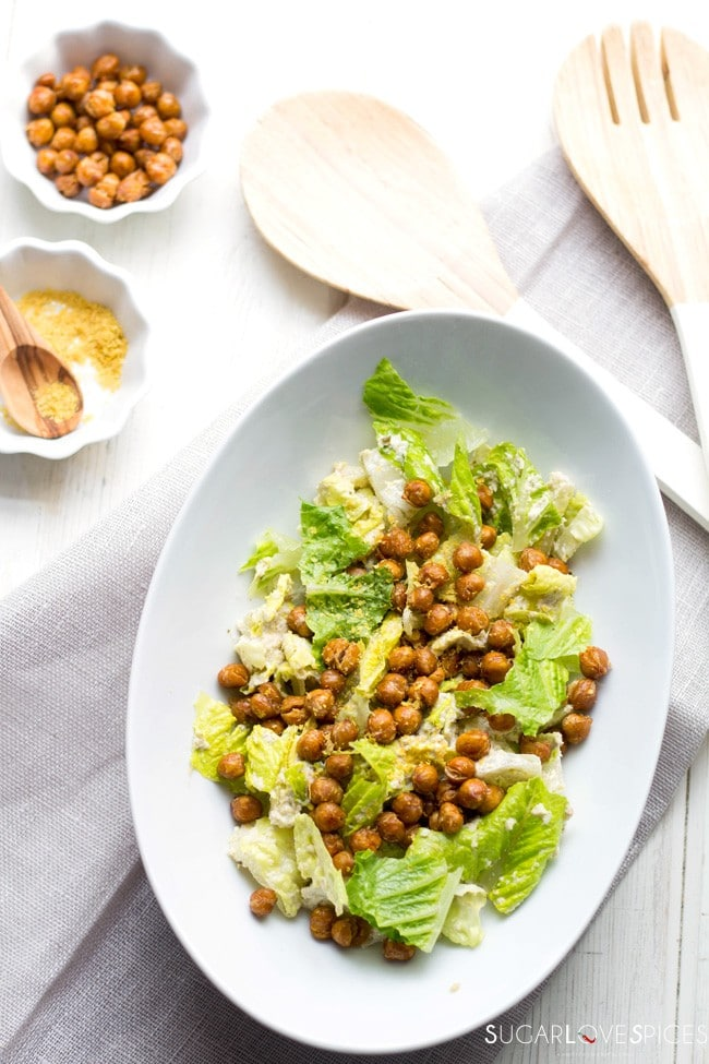 Roasted Chickpea Caesar Salad