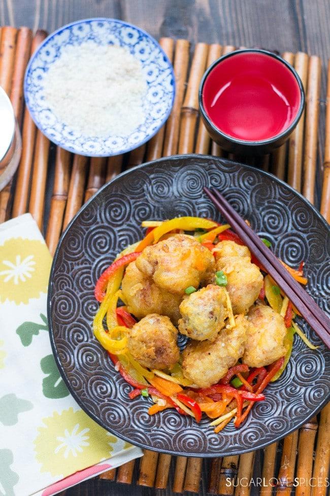 Crispy halibut orange ginger bites sugarlovespices for Food bar orange