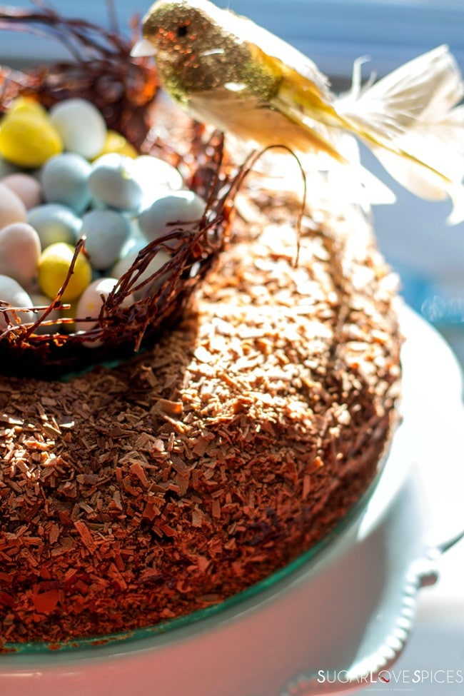 Triple Chocolate Easter Egg Nest Cake