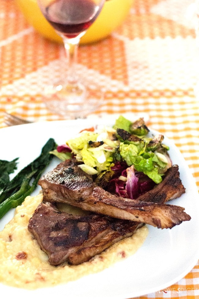 BBQ Lamb Chops on Root Vegetable Puree - SugarLoveSpices