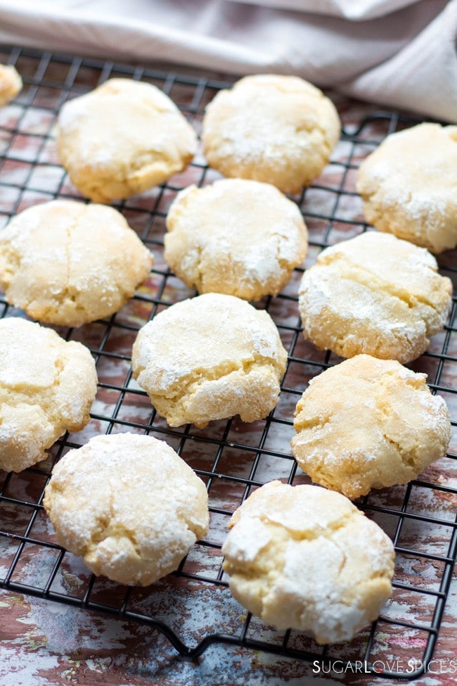 Soft Chewy Amaretti Cookies, are classic Italian almond cookies, made ...