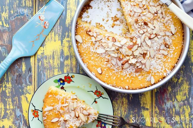 Semolina Cake soaked in Orange Blossom Syrup