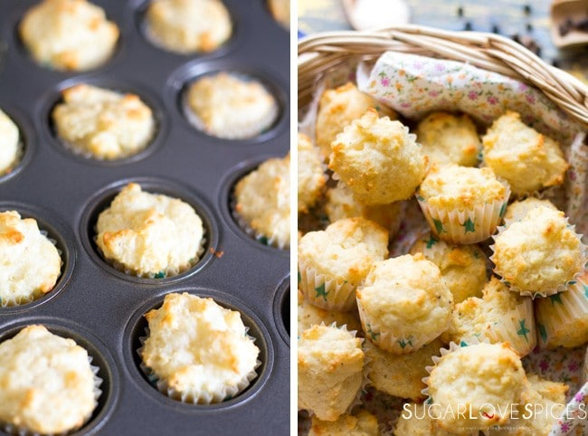 Cacio e Pepe mini muffins