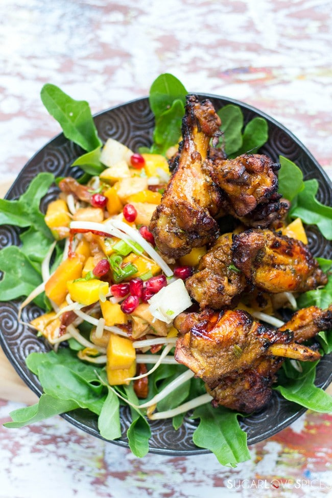 Fifteen Spice Double Cooked Chicken Wings - SugarLoveSpices
