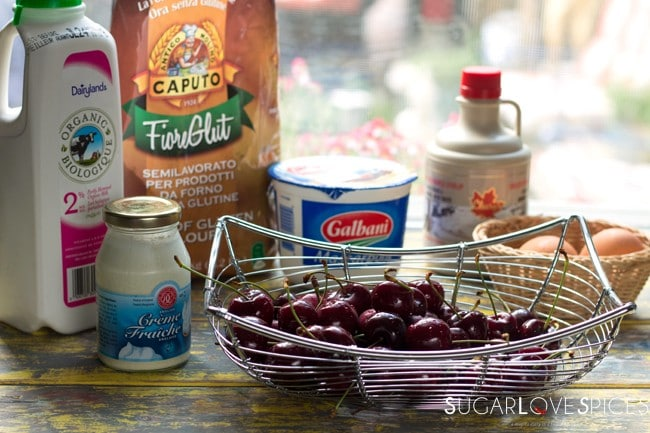 Cherry Crepes with Whipped Mascarpone G.F.