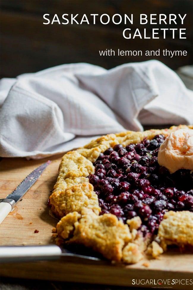 Saskatoon Berry Galette with Lemon and Thyme