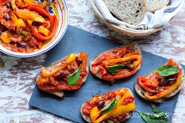 "Peperonata (Stewed Savory Peppers) + A Week with ""Lidia's Celebrate Like An Italian"""
