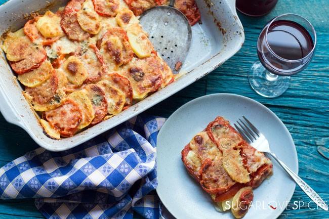 Potato and Tomato Bake (Patate e Pomodori al Forno)