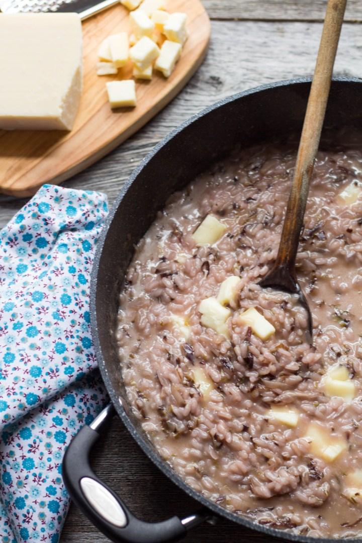 classic italian risotto with radicchio and taleggio-rev-pan