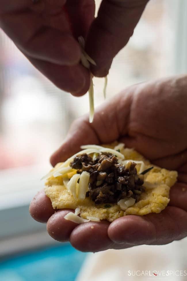 Fontina Mushroom Stuffed Polenta Bites