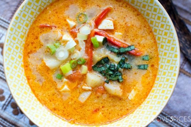 Soft Tofu Thai Curry Soup