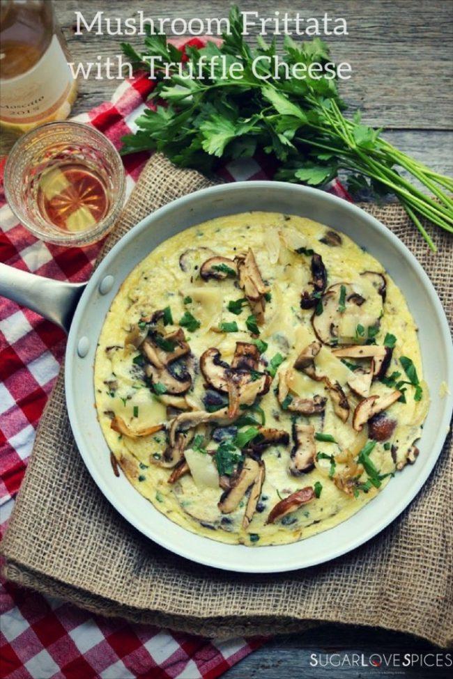 Mushroom Frittata with Truffle Cheese-pinterest