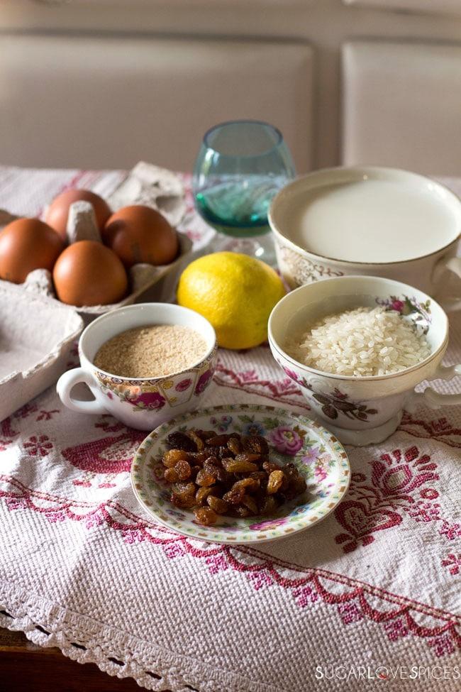 Torta di Riso di Grazianella (Italian Rice Cake)-ingredients