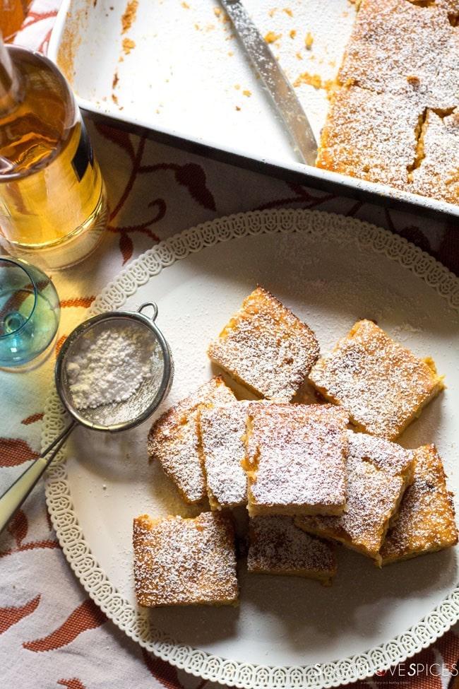 Torta di Riso di Grazianella (Italian Rice Cake)-top view
