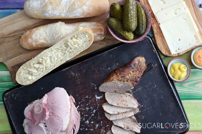 Cuban Sandwich-prep
