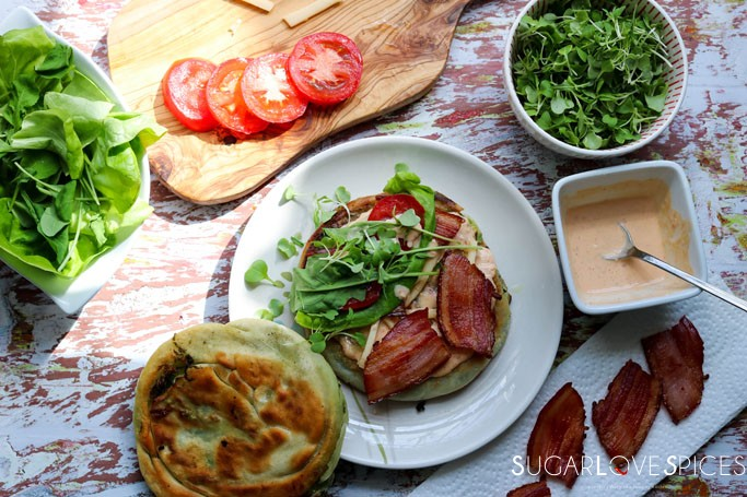 Green Onion Cake BLT