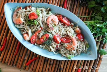 Thai Noodle Shrimp Spicy Salad