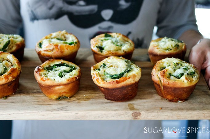Spinach Caramelized Onion Breakfast Brioche