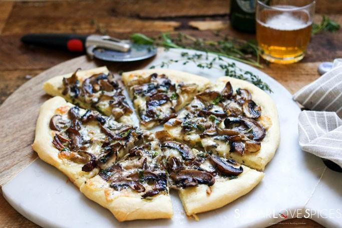 Taleggio, Mushroom & Fresh Herb Pizza