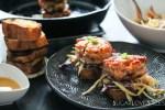 Asian-inspired Arctic Char cake sliders