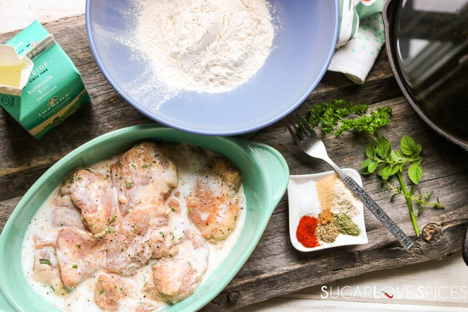 Best Buttermilk Fried Chicken-preppin