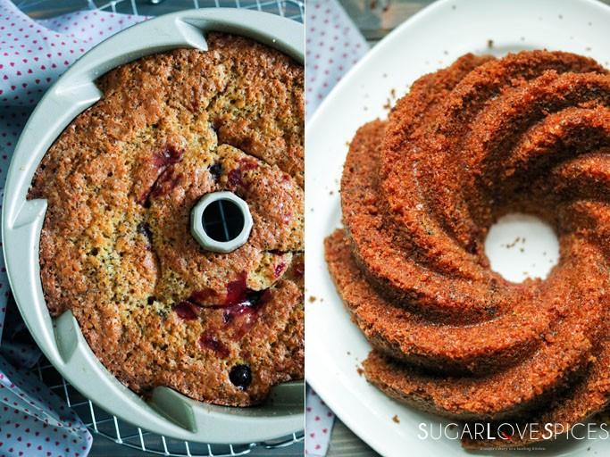 Summer berry Lemon Poppy Seed Bundt Cake