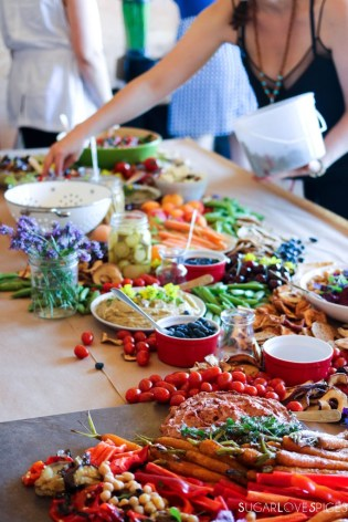 The Beautiful, delicious and colorful food table