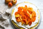 Lemon Curd Pavlova with Peaches & Apricots