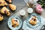 Roasted Cherry ricotta scones