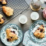 Roasted Cherry ricotta scones