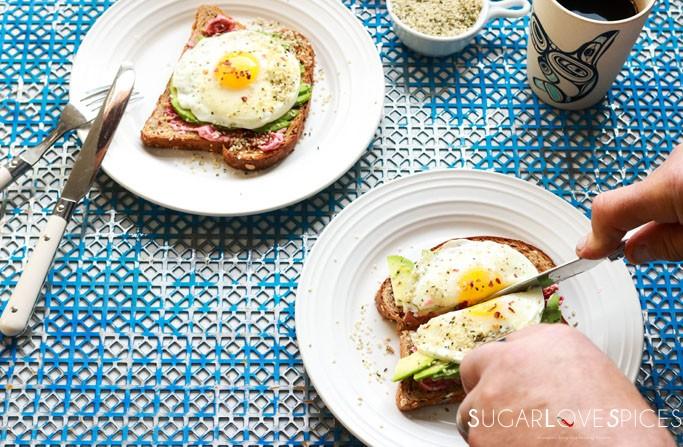 Avocado Egg Toast with Hemp Seeds