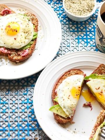 Avocado Egg Toast with Hemp Seeds-feature
