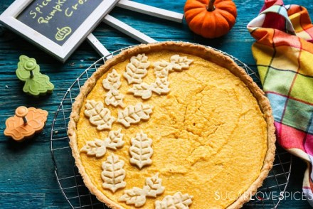 Spiced Roasted Pumpkin Ricotta Crostata