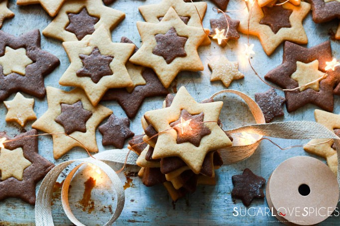 Orange and Chocolate Star Cookies