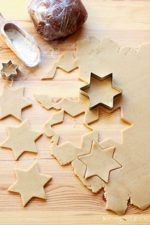 Orange and Chocolate Star Cookies-prep2