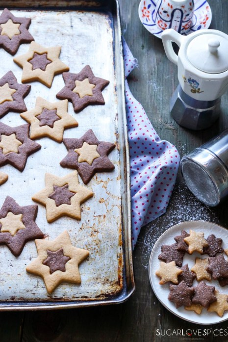 Orange and Chocolate Star Cookies1