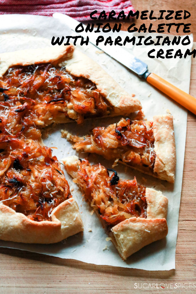 CARAMELIZED ONION GALETTE WITH PARMIGIANO CREAM