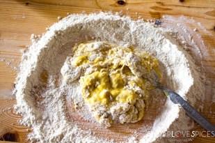 spelt maltagliati pasta and a cooking class in Tuscany