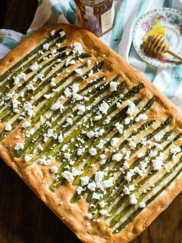 Spring Focaccia with Asparagus and Feta-pin