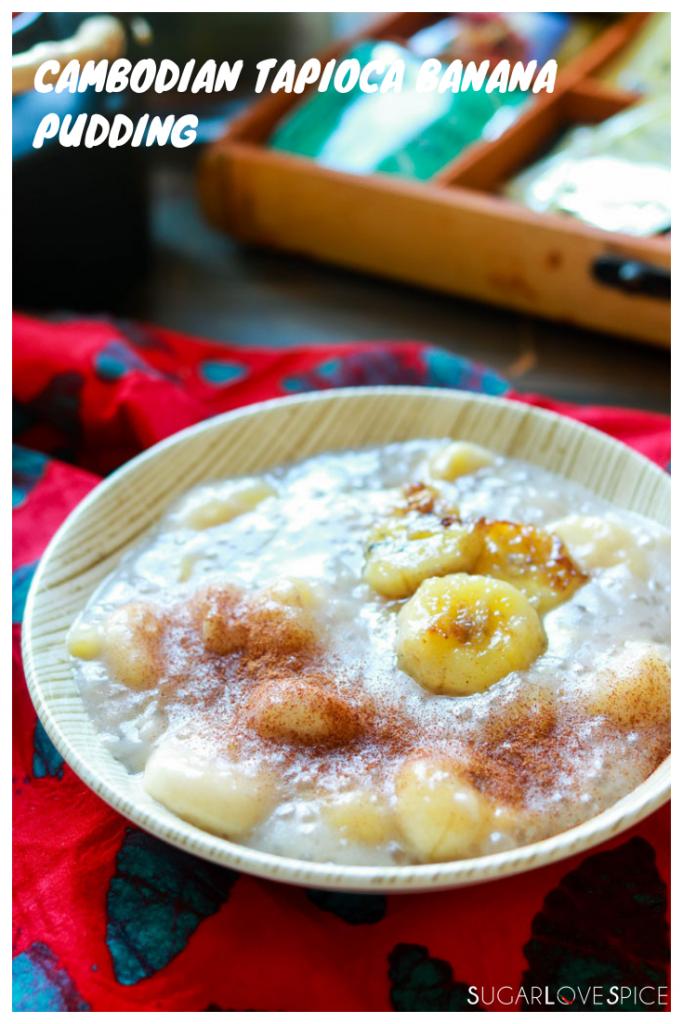 Cambodian Tapioca Banana Pudding-closeup with text