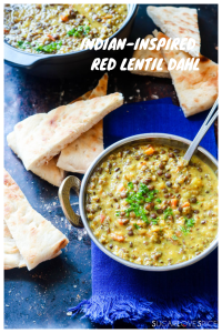 Indian-inspired Red Lentil Dahl-pinterest image