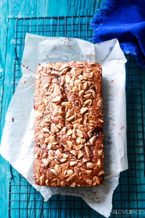 almond butter and jam rye bread-bread onto a rack