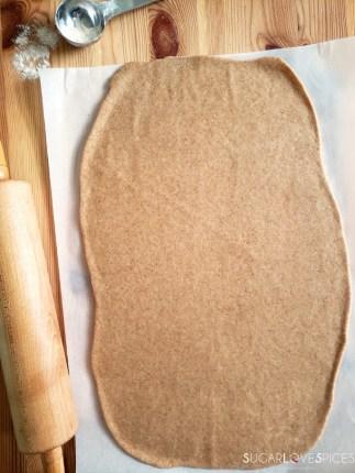 Chocolate Hazelnut Spelt Brioche Wreath-stretched dough