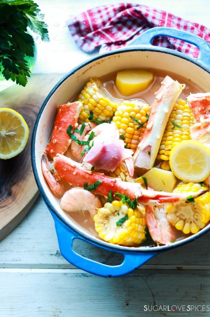 Crab and Shrimp Boil-prep