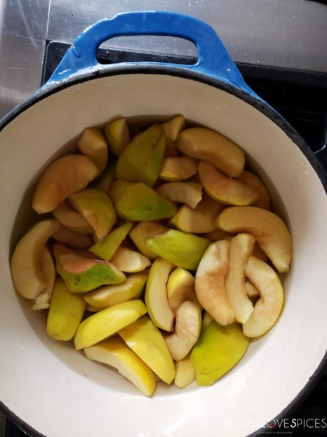 Easy Quince Jam-in the pot