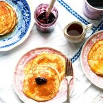 Lemon ricotta pancakes-on the plates-feature
