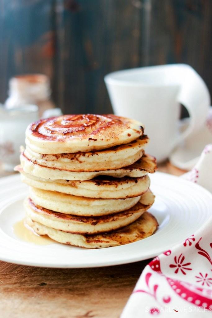 Cinnamon Swirl Pancakes-stack