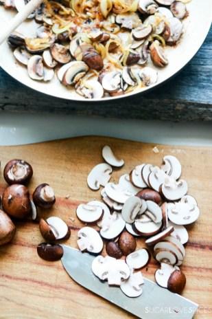 Creamy Chicken and Mushroom Marsala-chopping mushrooms